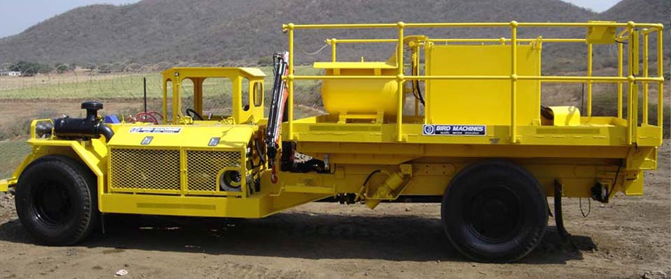 Underground Medium Duty Utility Vehicle - Scissors Lift